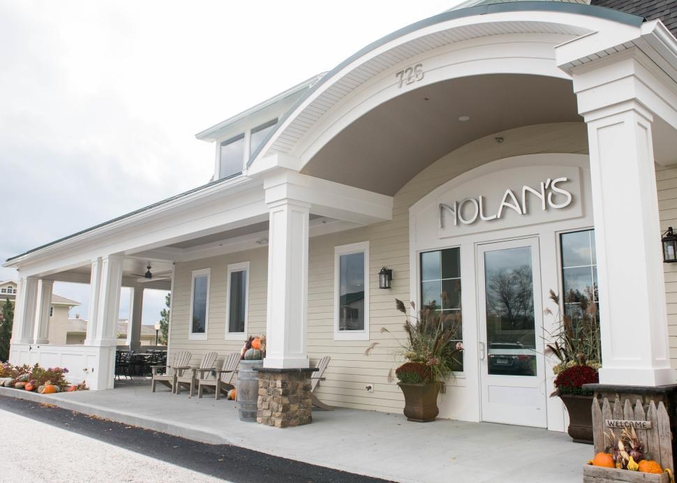 The exterior entrance to Nolan's in Canandaigua