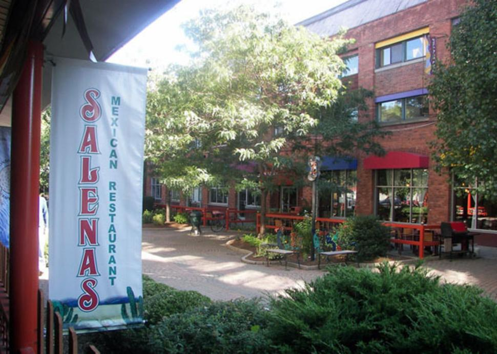 outdoor patio at Salena's Mexican Restaurant
