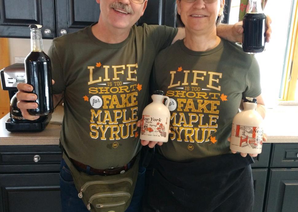 Russ and Kim Maple shirts