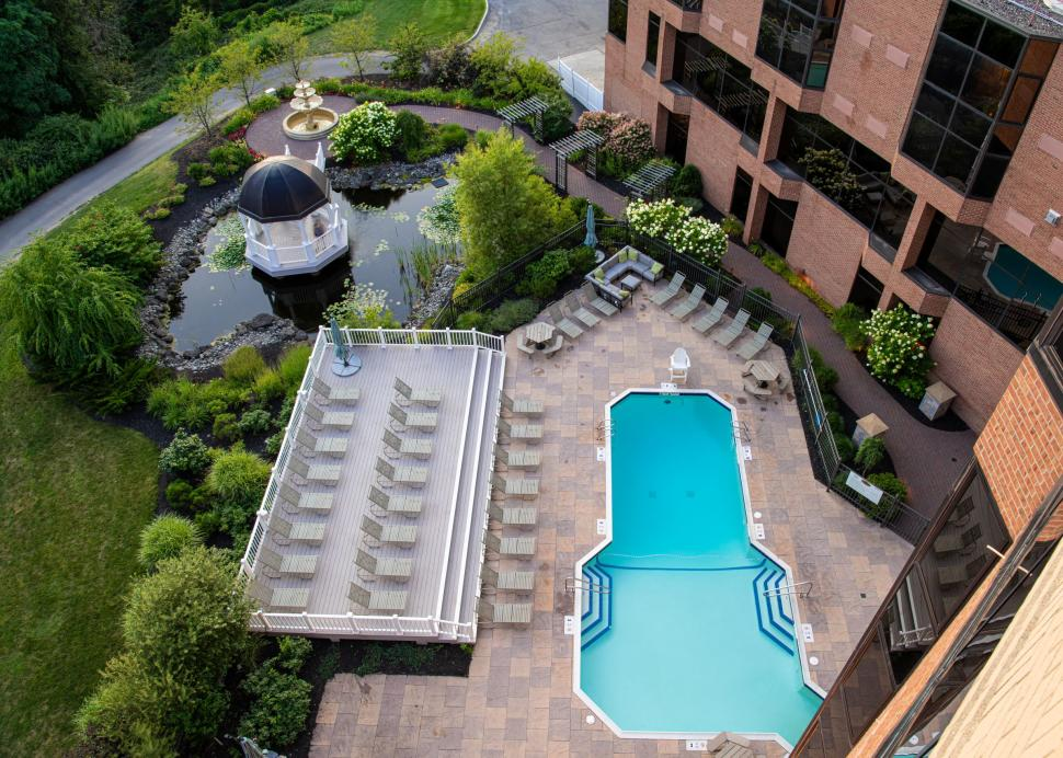 Woodcliff Hotel and Spa, pool and pond