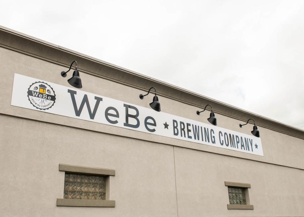 Exterior of WeBe brewing company in Geneva