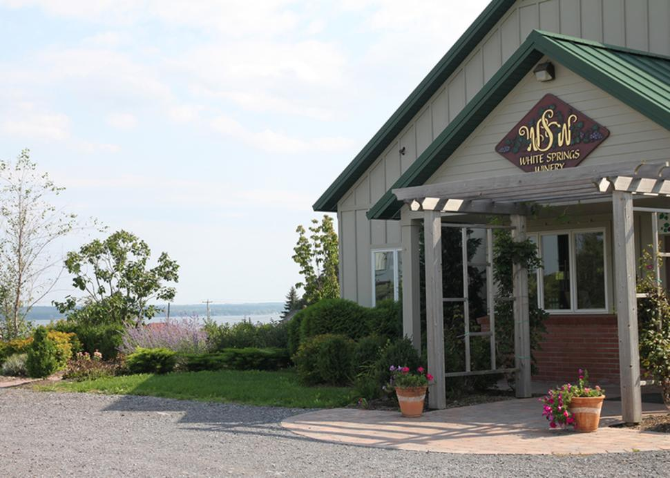 Exterior of the White Springs Winery in Geneva