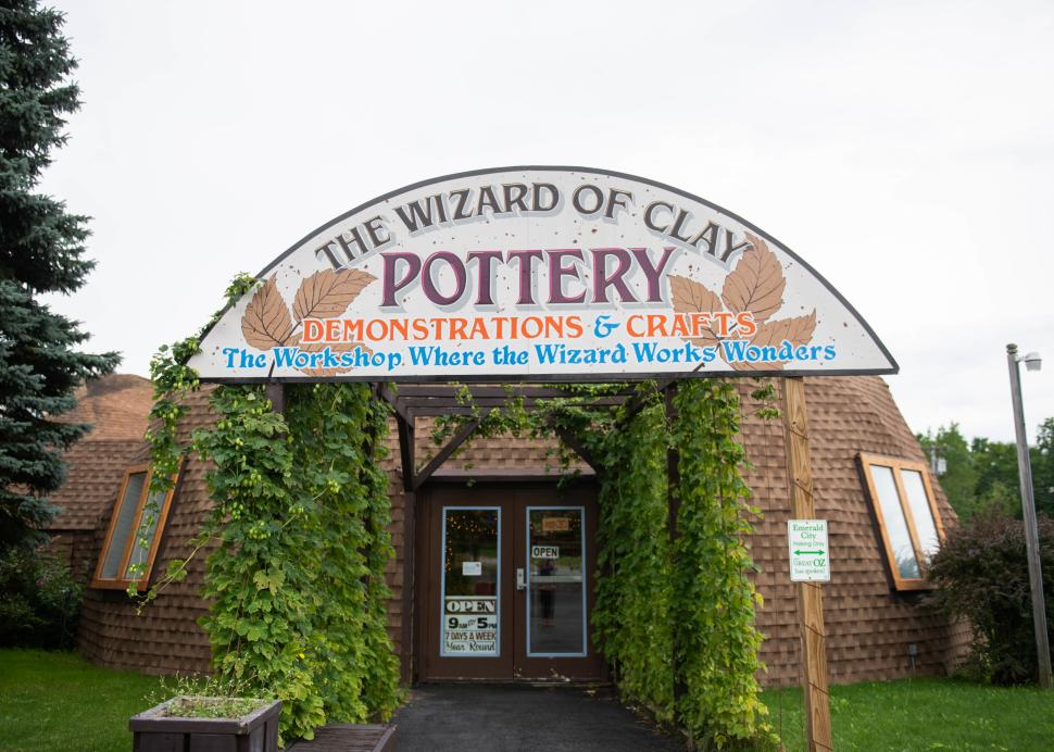 Exterior of the Wizard of Clay pottery in Bloomfield