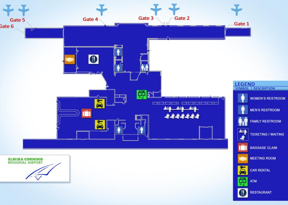 Floorplan at Elmira Corning Regional Airport