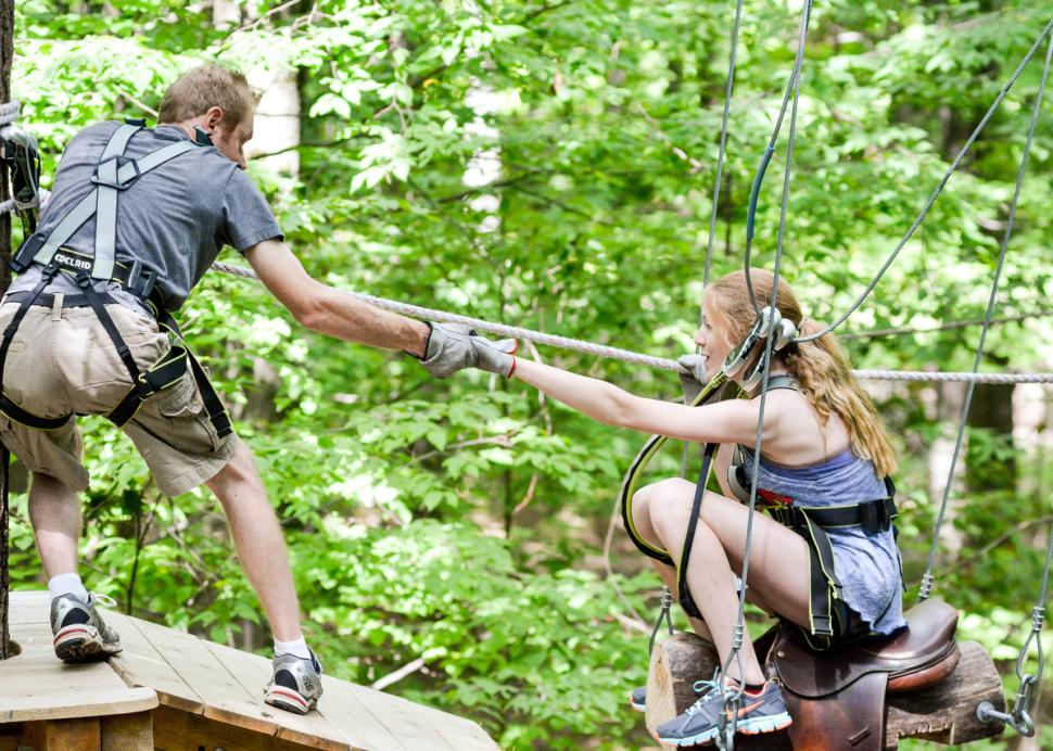 Bristol Mountain Aerial Park - Photo Courtesy of Bristol Mountain Aerial Adventures