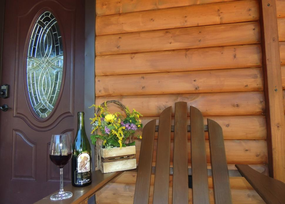 Porch time with a favorite Finger Lakes wine