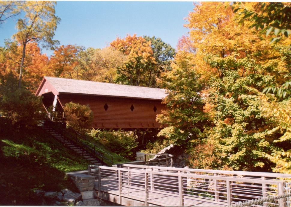 Newfield Covered Bridge - fall