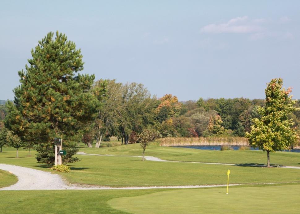 View of the putting green and links at Parkview