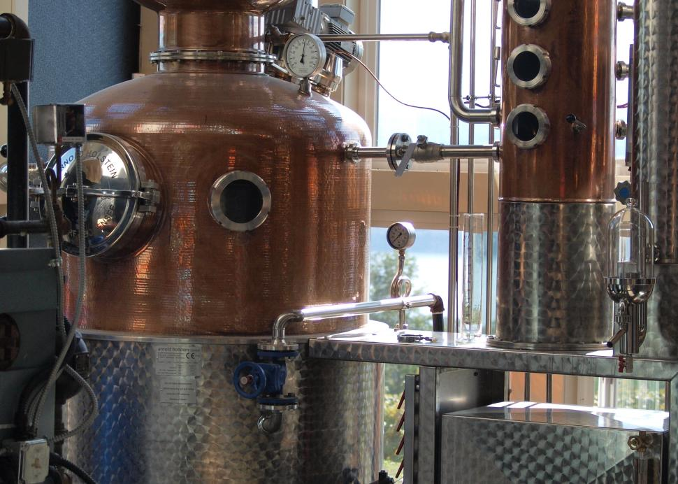 One of the copper stills at Finger Lakes Distilling - the Finger Lakes' first distillery!