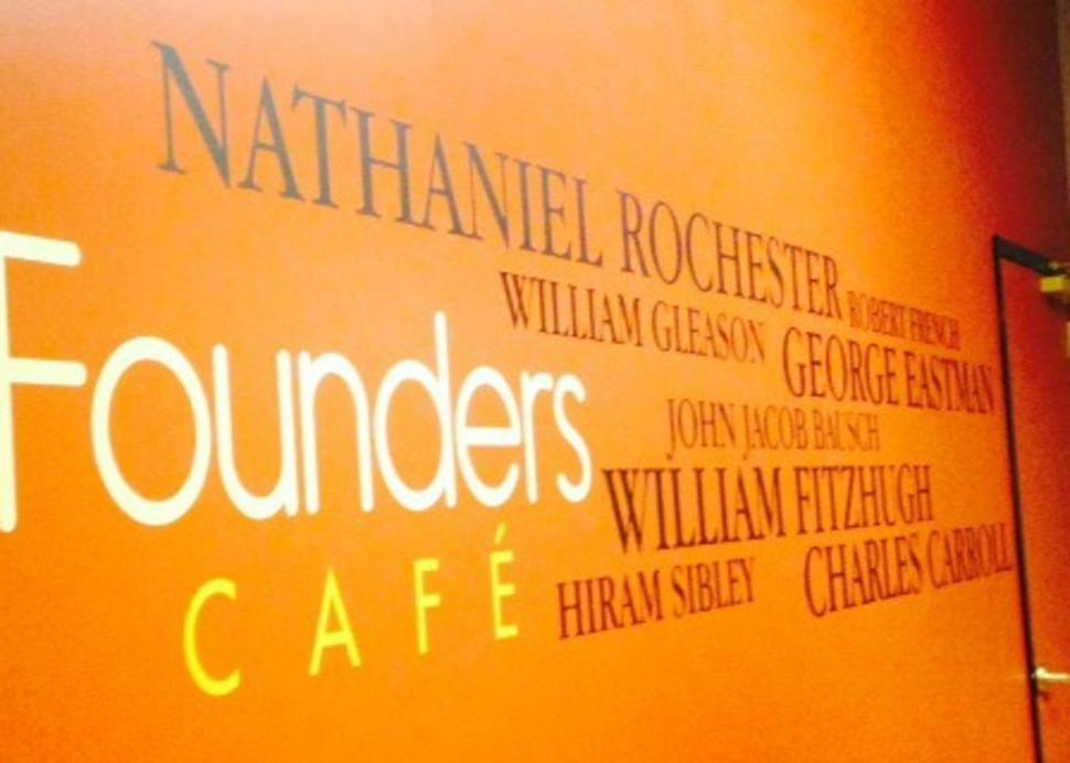 Tributes to historic Rochestarians at Founders Cafe