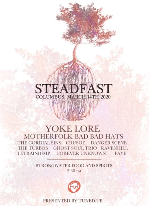 Flyer for Steadfast music festival