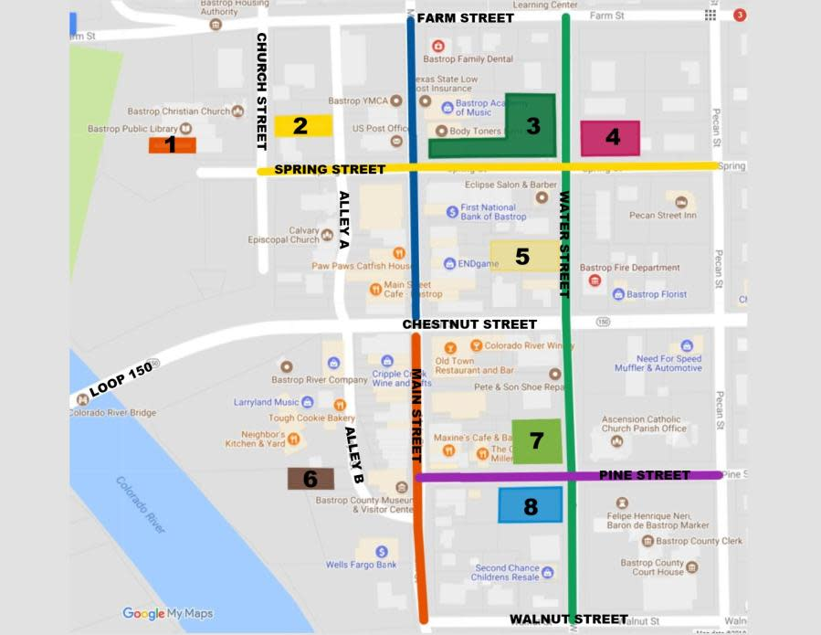 Downtown Parking Map