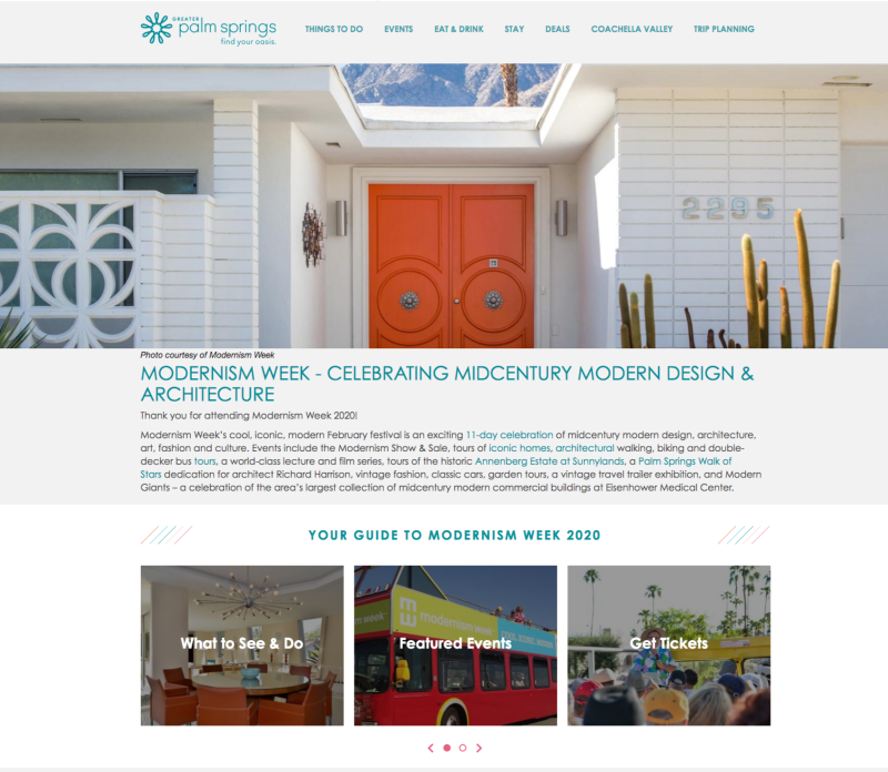 Modernism Week Signature Event Screen Grab