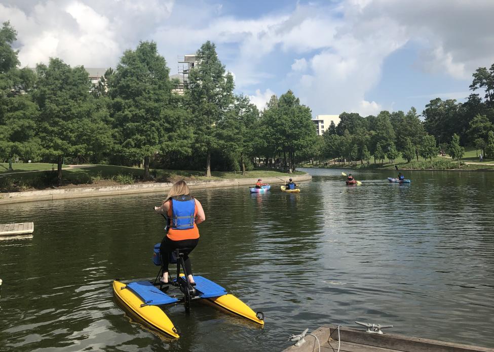 Water Bike and Kayaking The Woodlands Waterway