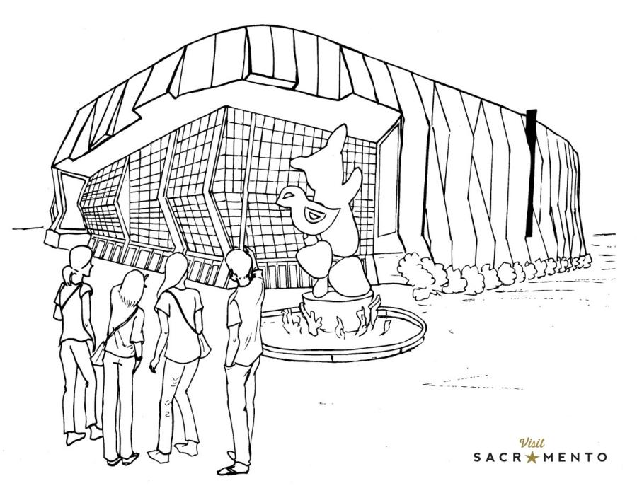 Golden 1 Center Coloring Page