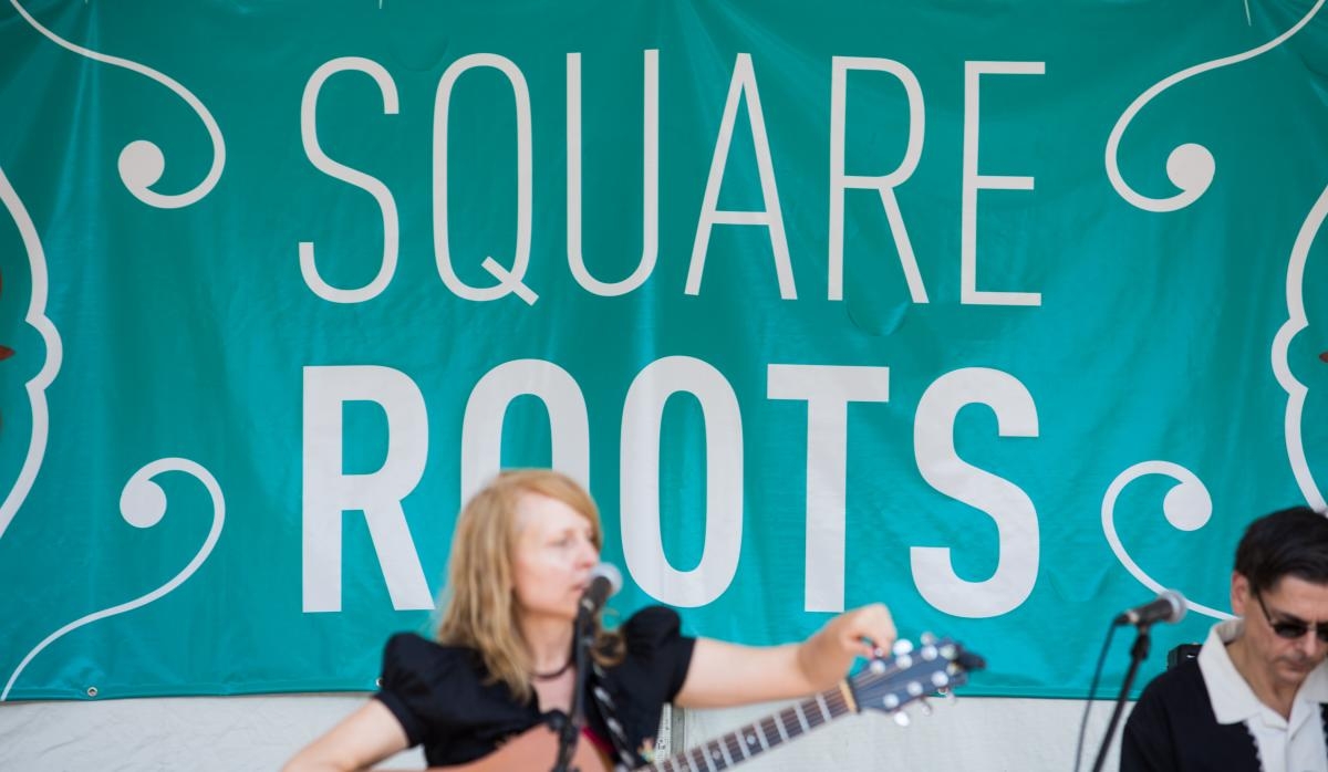 Musician at Square Roots Festival Chicago