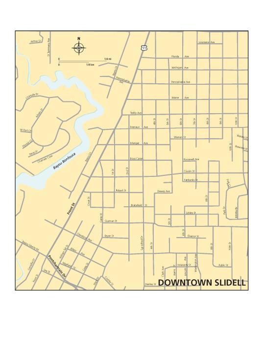 Maps of St. Tammany Parish | Covington, Slidell & Mandeville Slidell Map on