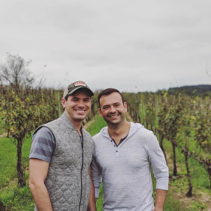 Justin and Shawn at Otium Cellars in Purcellville, VA