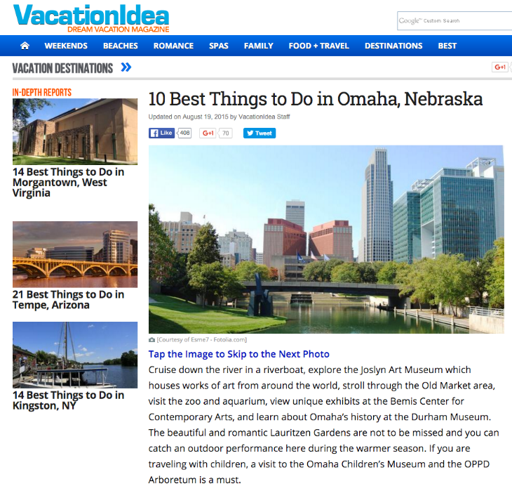 VacationIdea.com - 10 Best Things to Do in Omaha, Nebraska