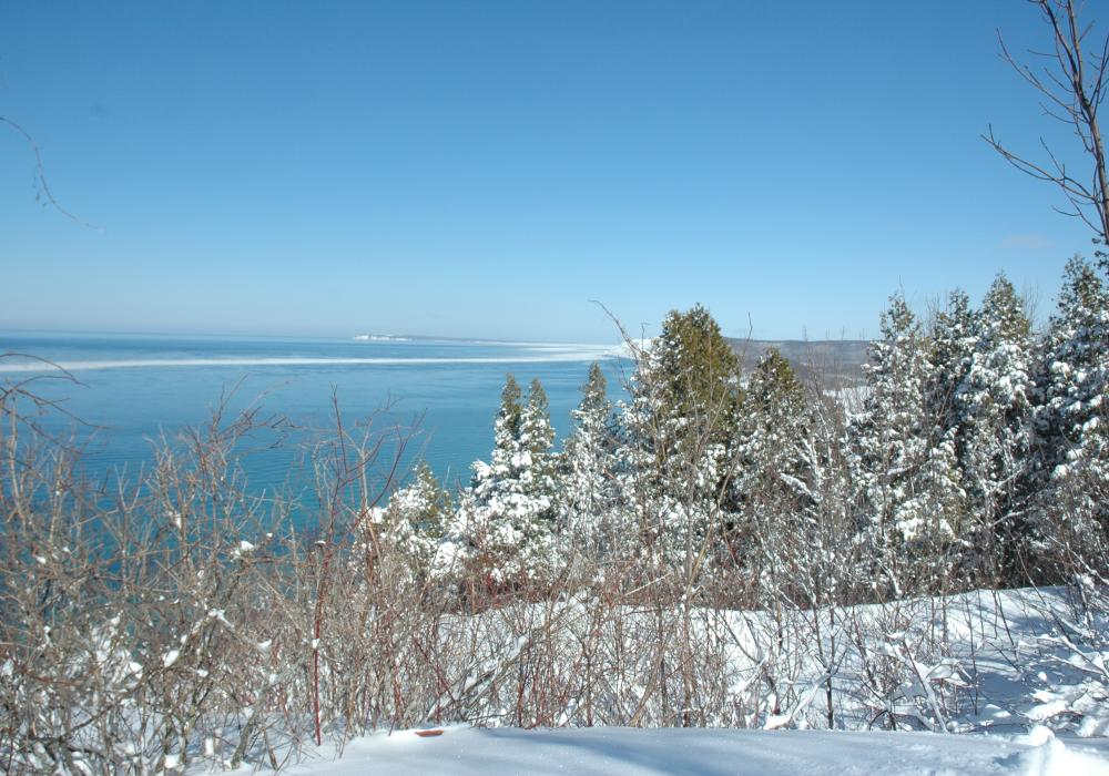 Sleeping Bear Dunes in Winter
