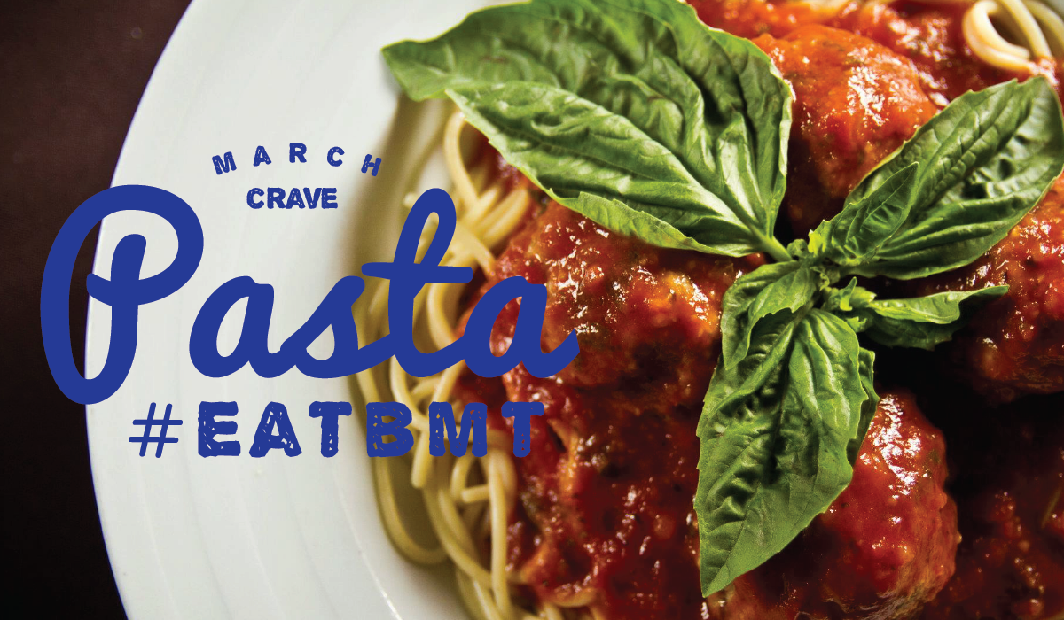 March Crave Pasta Logo #EATBMT