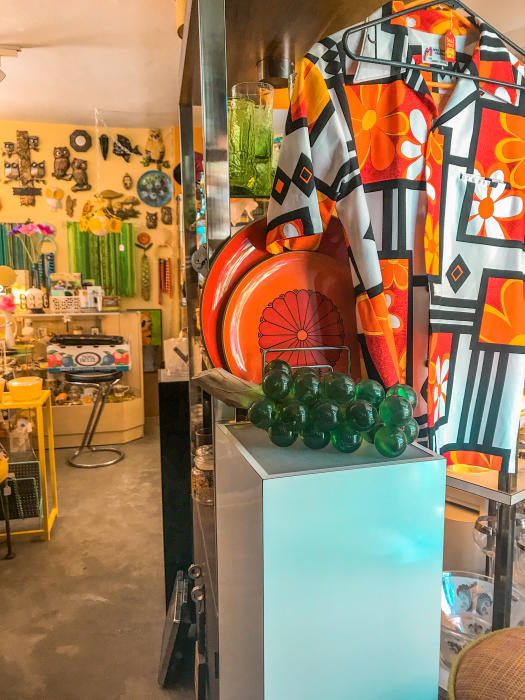 Interior of Dazzles shop