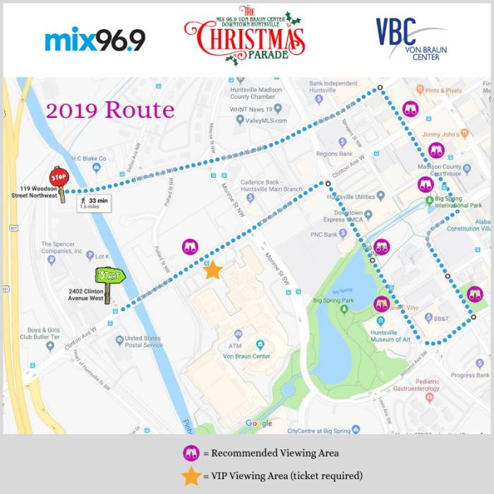 christmas parade map