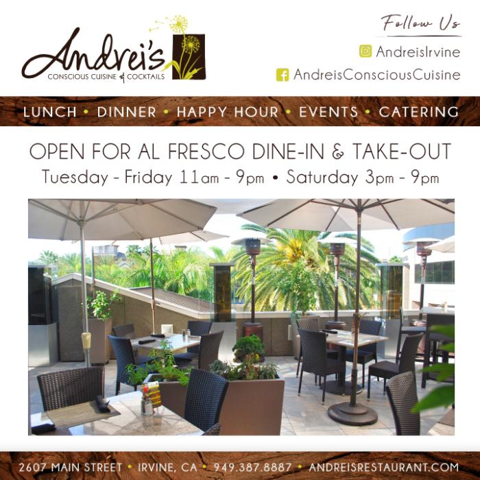 Andreis Al Fresco offers great food and great atmosphere with patio seating.