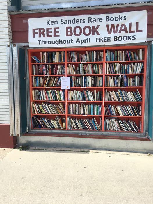 Ken Sanders free book wall