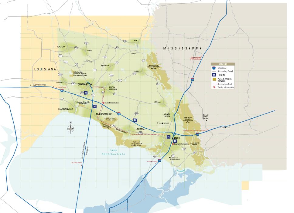 Maps Of St Tammany Parish Covington Slidell Mandeville