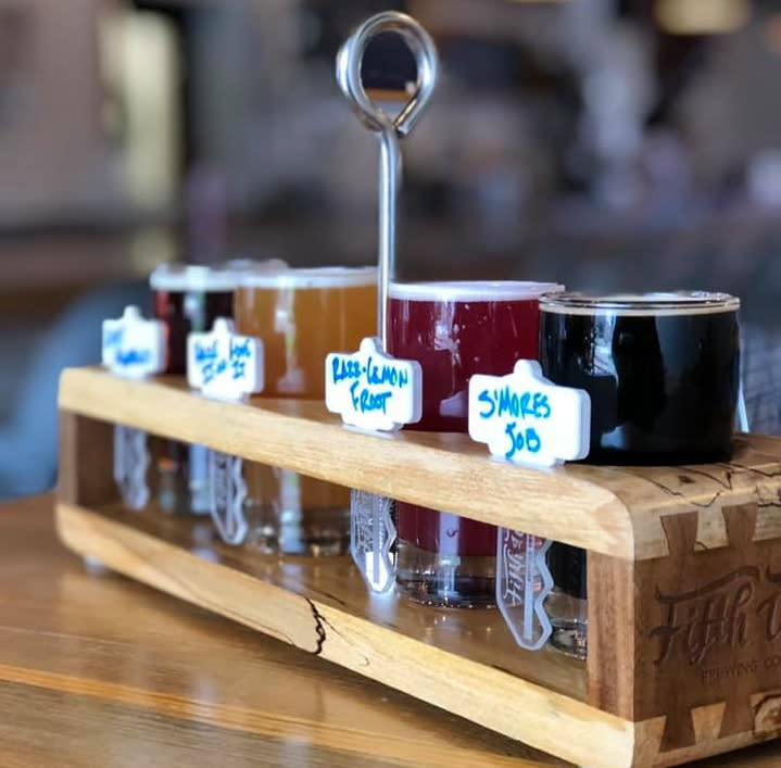 Beer flight at Fifth Ward Brewing Company