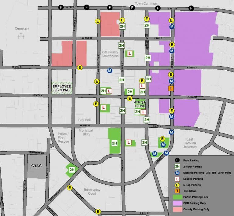 Uptown District Parking Map - Summer 2015