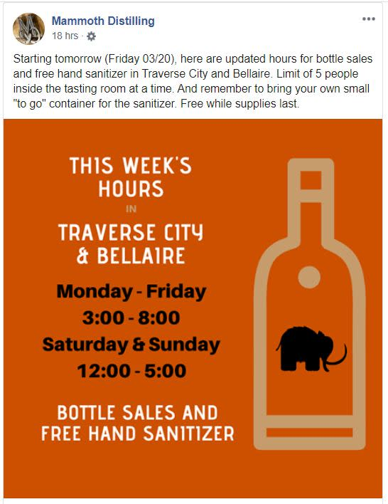 Information from Mammoth Distillery