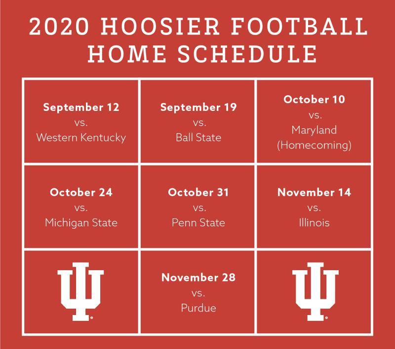 2020 IUFB schedule