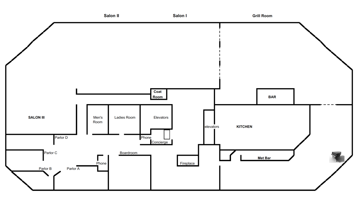 metropolitan club floor plan
