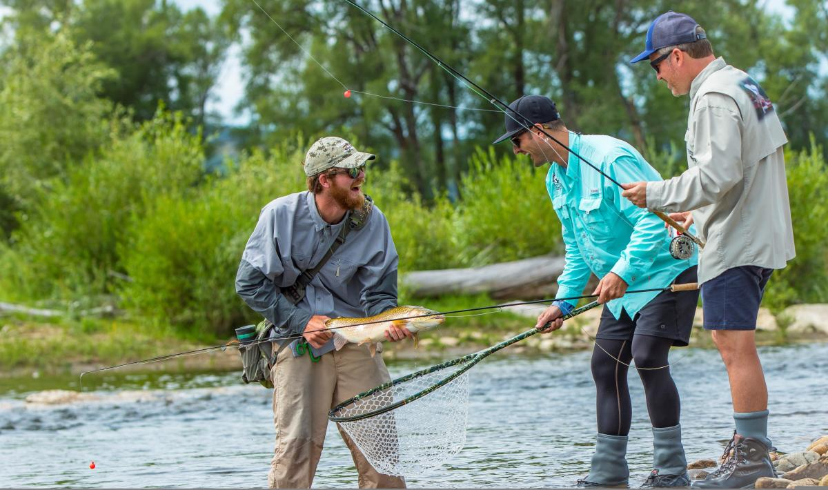 anglers rejoice in their big catch on the yampa river