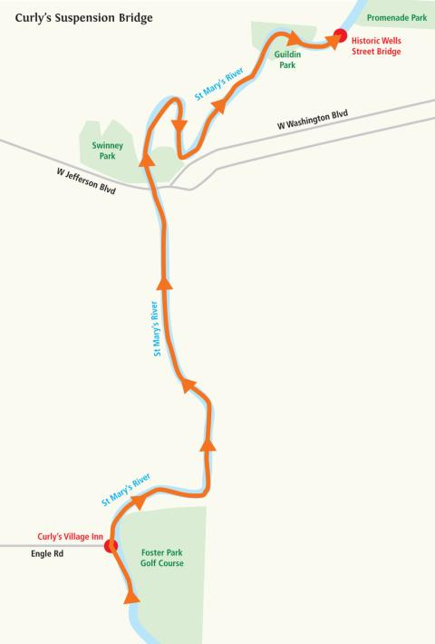 Curly's Suspension Bridge Water Trail Itinerary
