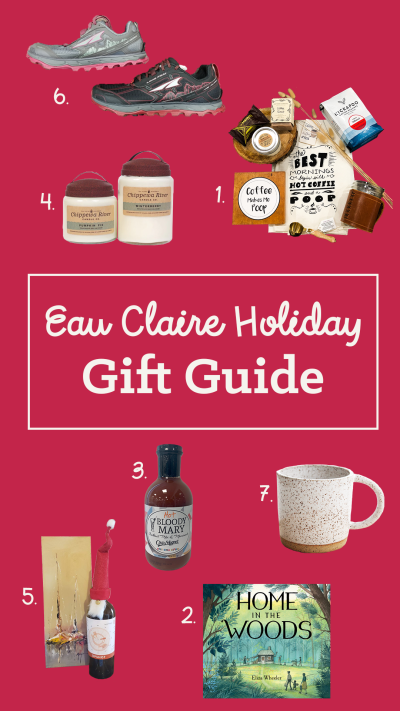 Eau Claire Holiday Gift Guide with Numbers