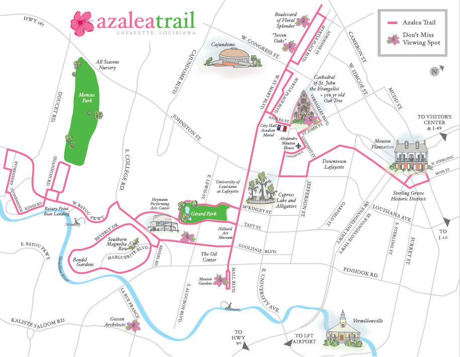 Azalea Trail Map