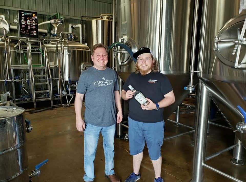 Friends at Bartlett's Distillery in Houston