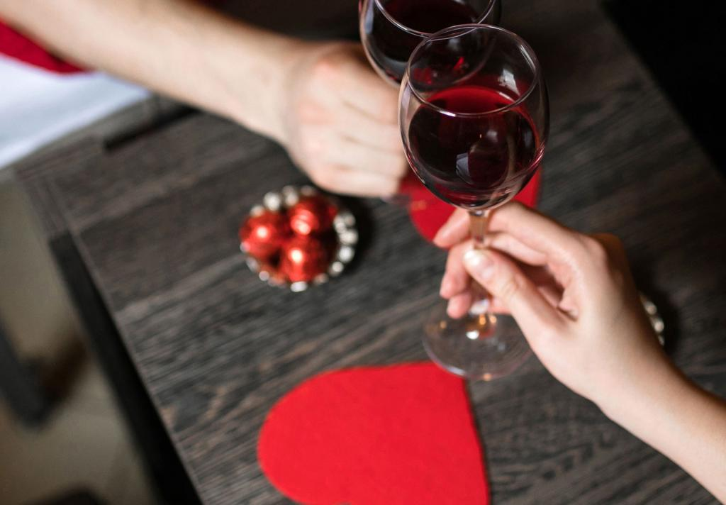 JW Marriott Galleria Romance Package Wine Glasses