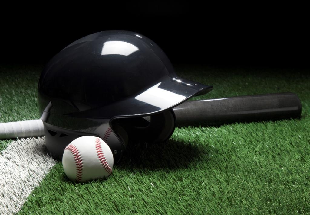 The Sam Stock Photo Baseball Helmet and Ball