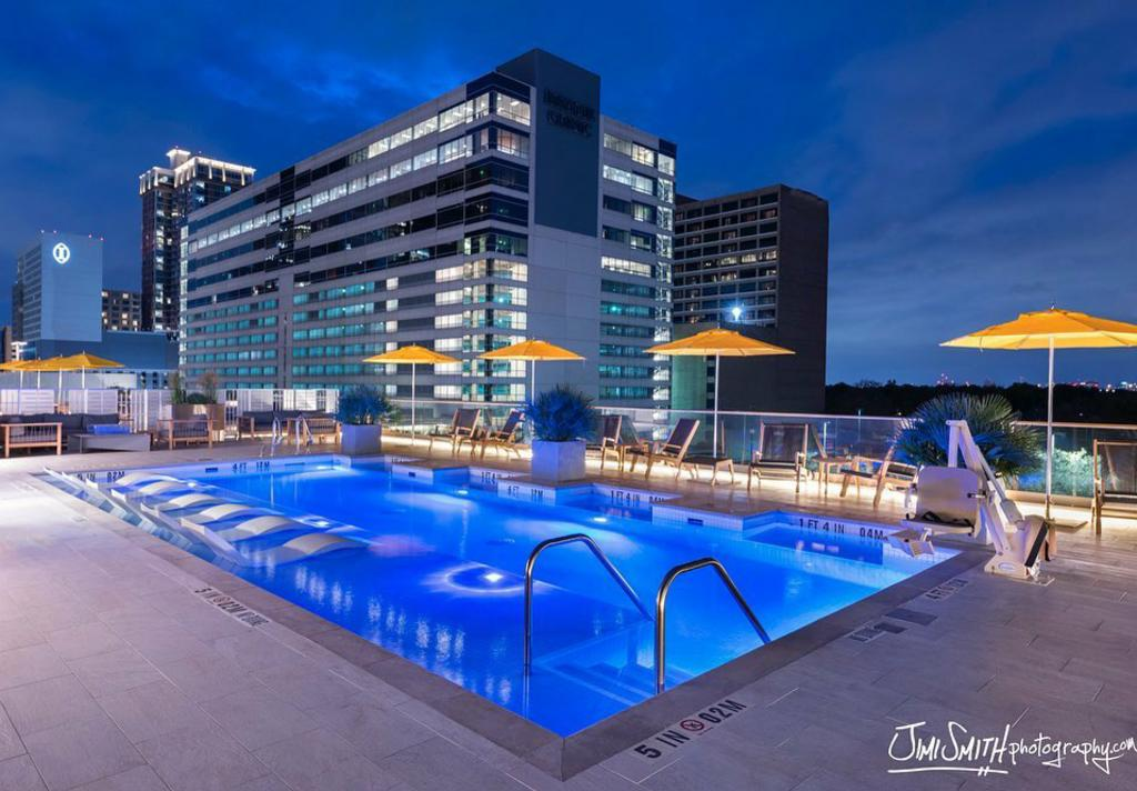 Roof Top Pool Night