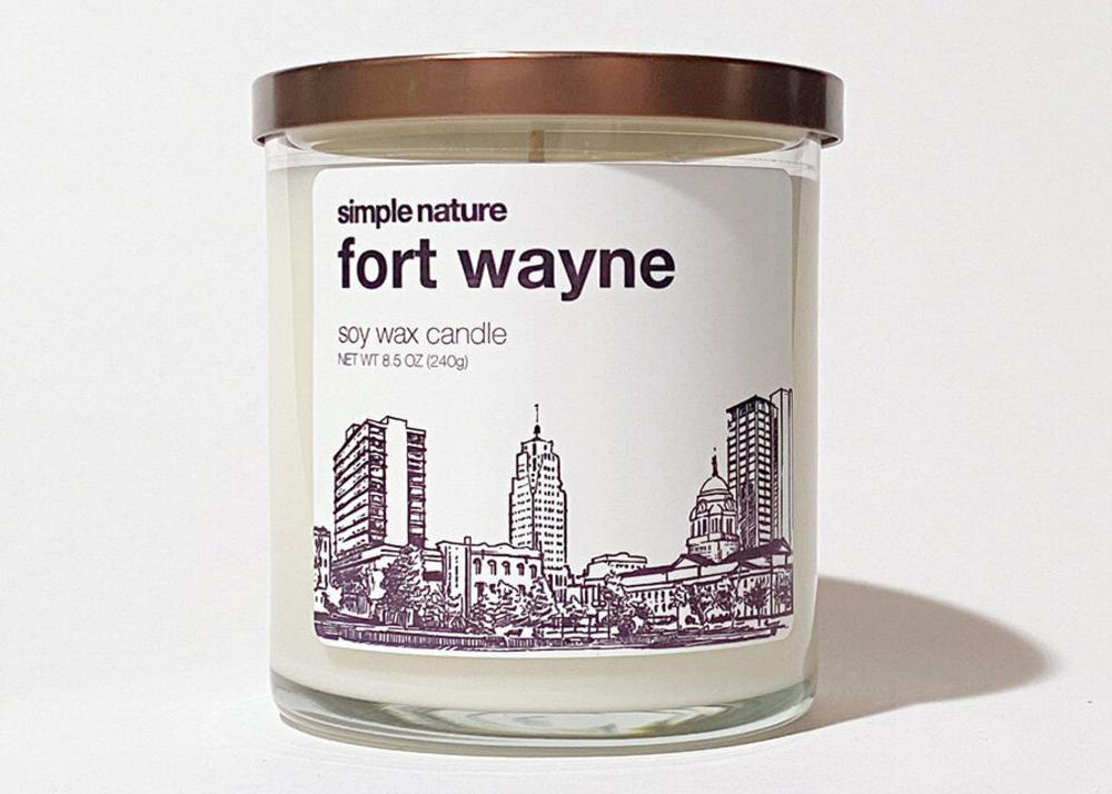Fort Wayne scented candle from Simple Nature