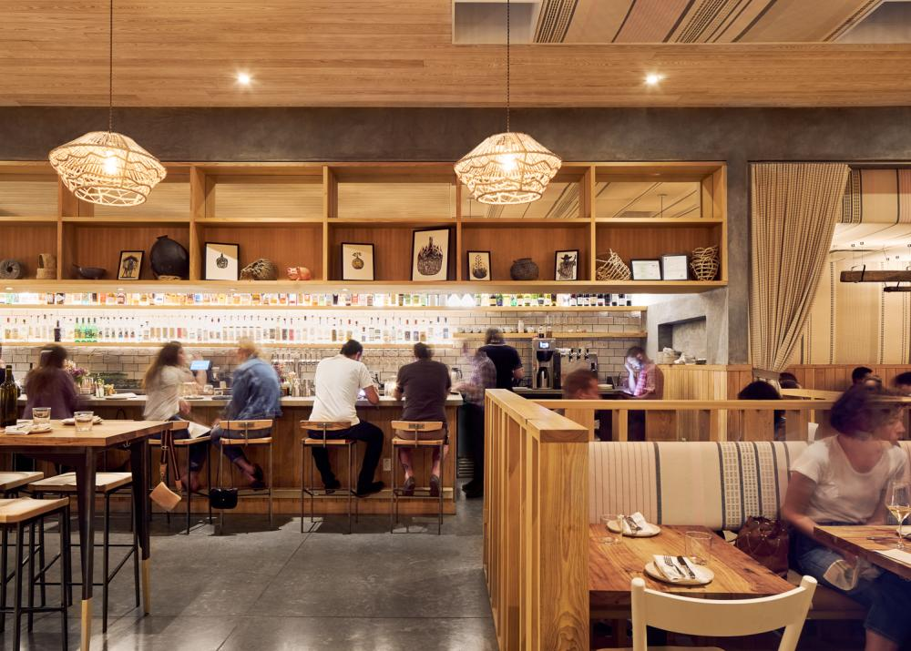 Interior bar of suerte restaurant in austin texas
