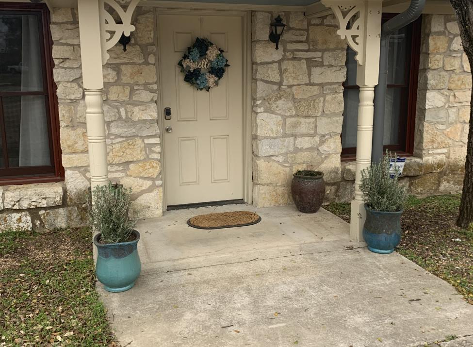 Carriage house front door