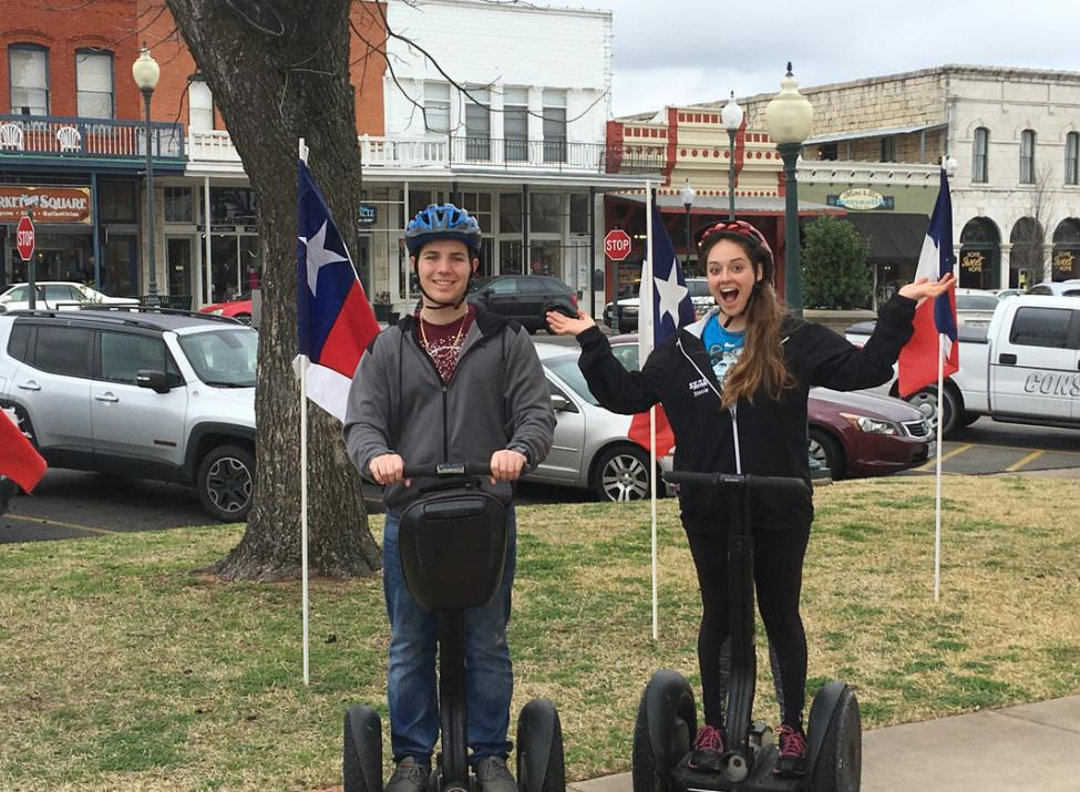 Segways on Granbury Square