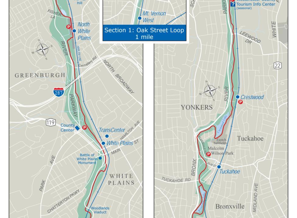 Bronx River Pathway map