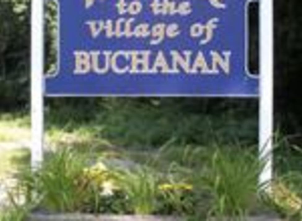 Buchanan village welcome sign