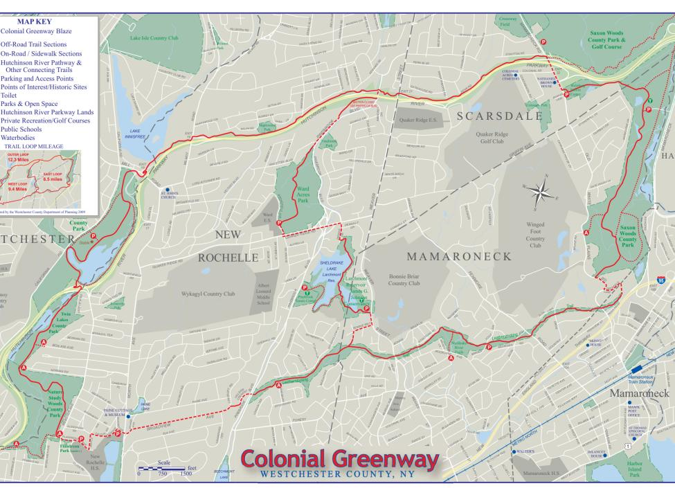 Colonial Greenway map
